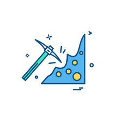 pickaxe icon design vector image