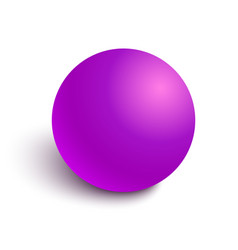 Pink glossy ball vector