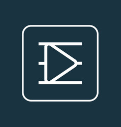 Playlist outline symbol premium quality isolated vector