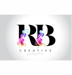 Rb vibrant creative leter logo design with vector