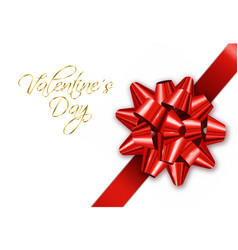 red bow realistic special valentine day vector image