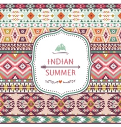 Seamless pattern in native american style vector