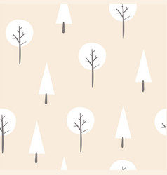 seamless pattern with abstract trees vector image