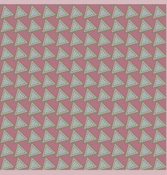 Seamless pattern with tilted triangles vector
