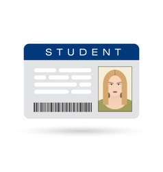 Student ID card vector image