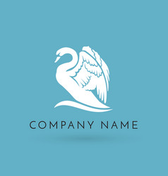 Swan logo sign emblem-18 vector