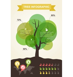 Tree infographics vector