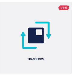 Two color transform icon from geometric figure vector