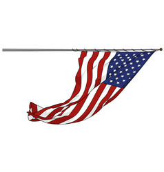 Waving american flag vector