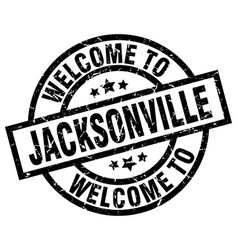 welcome to jacksonville black stamp vector image