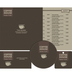 coffee style vector image vector image