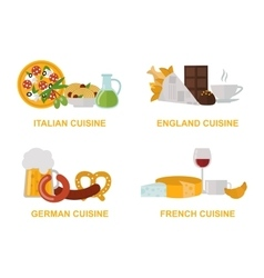 Cuisine lunch gourmet traditional food flat vector image vector image
