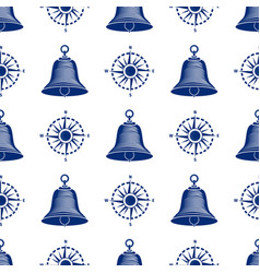 ship helm seamless pattern marine boat wheel vector image vector image