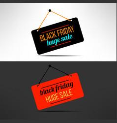 Black friday sale promotional banner vector