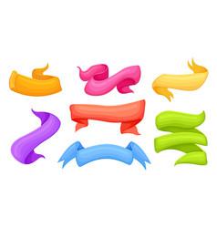 bright design element set in cartoon style vector image vector image