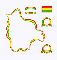 Colors of Bolivia vector image