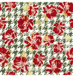 Floral grunge wallpaper vector image vector image