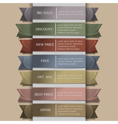 set of banner or ribbons vector image vector image