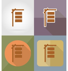 wooden board flat icons 03 vector image vector image