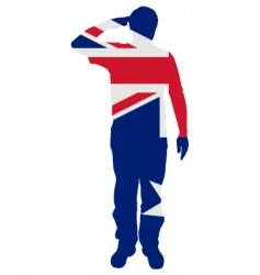 Australian salute vector image vector image