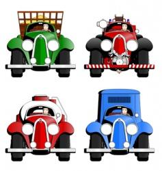 cartoon trucks vector image vector image