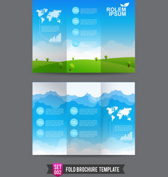 Fold Brochure background template 0002 vector image