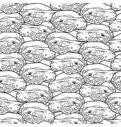 Graphic cramp fish pattern vector