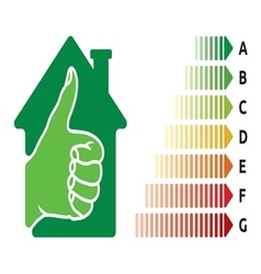 Home insulation efficiency4 resize vector image vector image