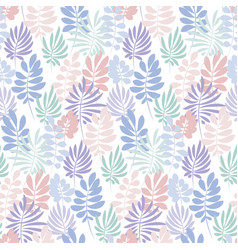tender violet and rosy color tropical leaves vector image vector image