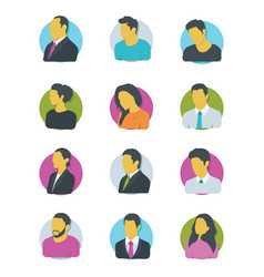 avatars icons vector image vector image
