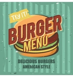 Creative logo design with burger vector image vector image
