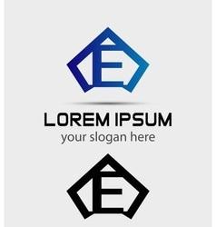 Letter E logo icon design template vector image vector image