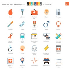 Medical Colorful Icons Set 01 vector image vector image