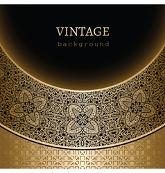Vintage gold background vector image vector image