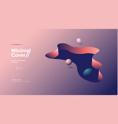 3d abstract cover design with balls and shapes vector image