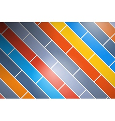 Abstract Retro Colorful Brick Background vector image