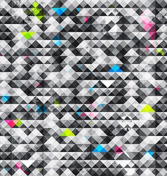 Abstract triangle grunge seamless pattern vector