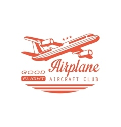 Airplane Aircraft Club Emblem Design vector