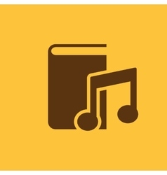 Audiobook icon design Library Audiobook vector image