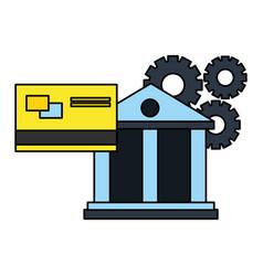 banking bank credit card financial vector image