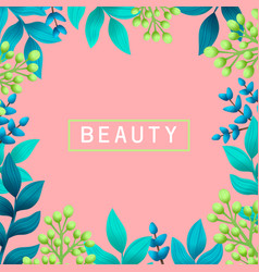 beauty concept herbal pre-made composition vector image