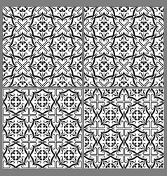 Black and white patterns 1 vector