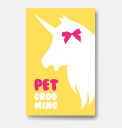 Business card template of grooming service pet vector