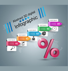 business infographics percent icon vector image