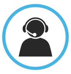 Call Center Operator Flat Rounded Icon vector image