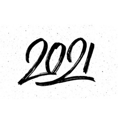 Calligraphy for 2021 new year ox vector