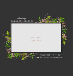 child greeting card floral elements bashower vector image