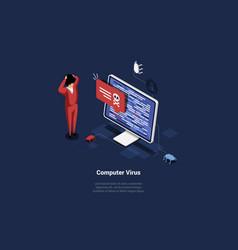 Concept computer virus vector