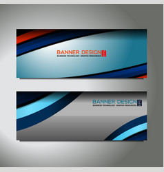 curve web banner vector image
