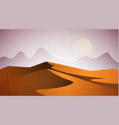 Desert landscape pyramid and sun vector